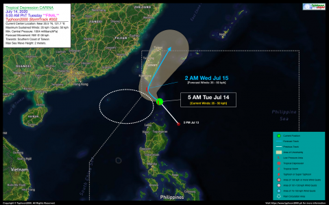 Tropical Depression CARINA Advisory No. 02 (FINAL)