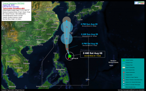 Tropical Depression ENTENG StormWatch No. 01