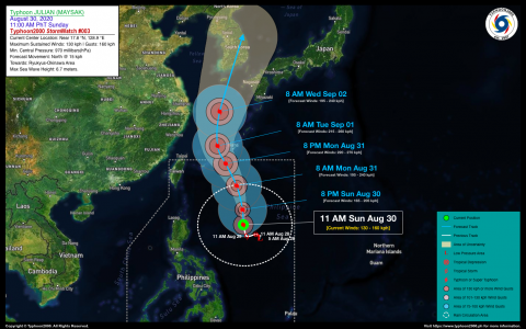 Typhoon JULIAN (MAYSAK) StormWatch No. 03