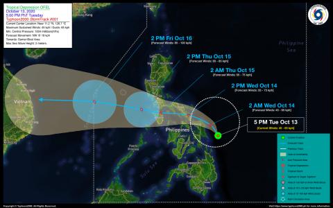 Tropical Depression OFEL Advisory No. 01