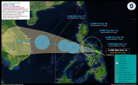Tropical Depression OFEL Advisory No. 02