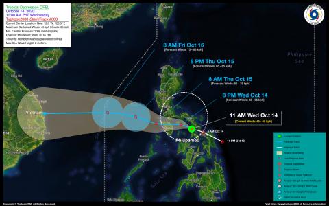 Tropical Depression OFEL Advisory No. 03