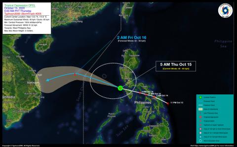 Tropical Depression OFEL Advisory No. 05
