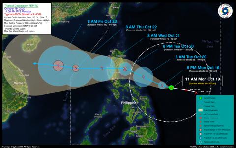 Tropical Depression PEPITO Advisory No. 02