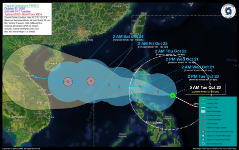 Tropical Depression PEPITO Advisory No. 04