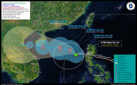 Severe Tropical Storm PEPITO (SAUDEL) Advisory No. 10