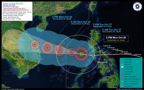 Typhoon QUINTA (MOLAVE) Advisory No. 10