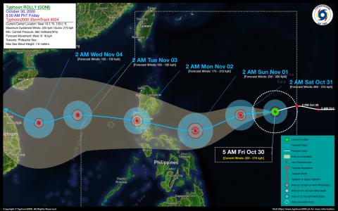 Typhoon ROLLY (GONI) Advisory No. 04