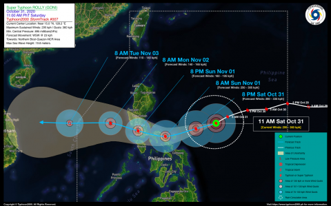 Super Typhoon ROLLY (GONI) Advisory No. 07