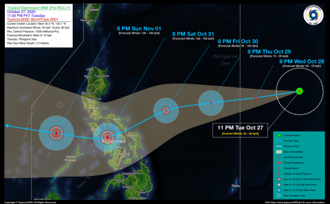 Tropical Depression 99W (Pre-ROLLY) StormWatch No. 01
