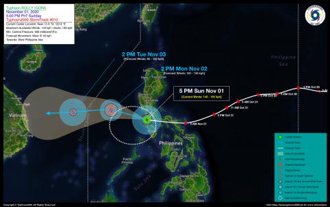 Typhoon ROLLY (GONI) Advisory No. 10