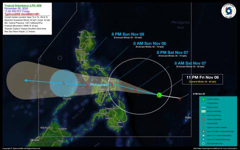 Tropical Disturbance (LPA) 92W StormWatch No. 01