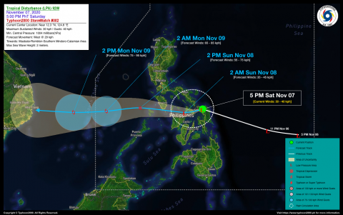 Tropical Disturbance (LPA) 92W StormWatch No. 02
