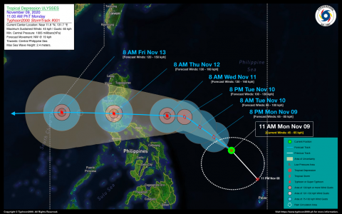 Tropical Depression ULYSSES Advisory No. 01