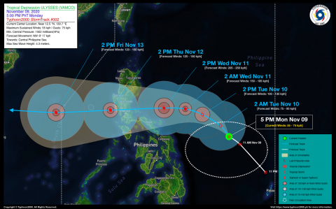 Tropical Depression ULYSSES (VAMCO) Advisory No. 02