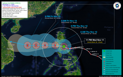 Typhoon ULYSSES (VAMCO) Advisory No. 09