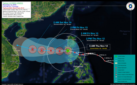 Typhoon ULYSSES (VAMCO) Advisory No. 10