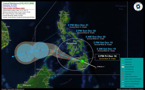 Tropical Disturbance (LPA) VICKY StormWatch No. 02