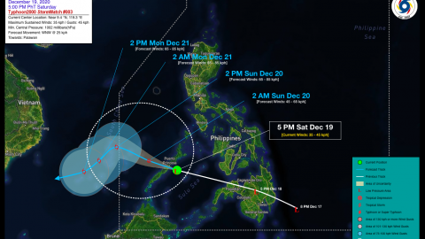 Tropical Disturbance (LPA) VICKY StormWatch No. 03