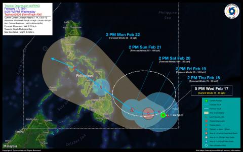 Tropical Depression AURING Advisory No. 01