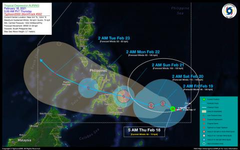 Tropical Depression AURING Advisory No. 02