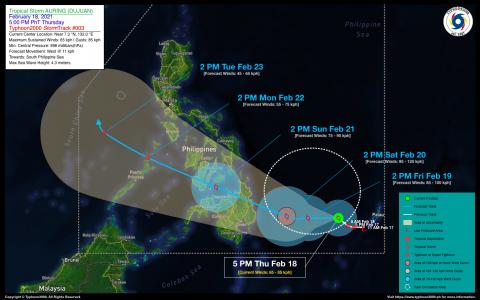 Tropical Storm AURING (DUJUAN) Advisory No. 03