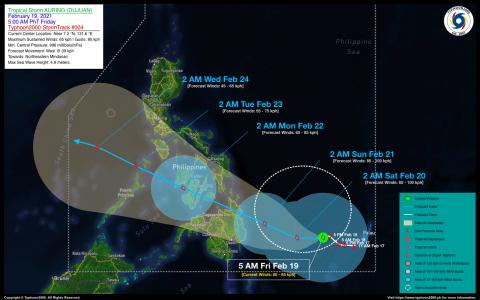 Tropical Storm AURING (DUJUAN) Advisory No. 04