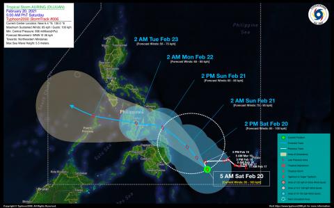 Tropical Storm AURING (DUJUAN) Advisory No. 06