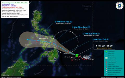 Tropical Depression AURING (DUJUAN) Advisory No. 07