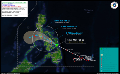 Tropical Depression AURING (DUJUAN) Advisory No. 10