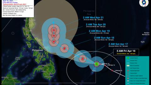 Typhoon SURIGAE Advisory No. 01