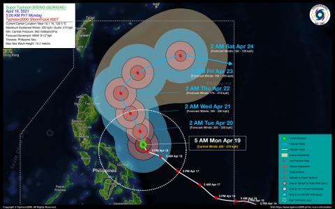 Typhoon BISING (SURIGAE) Advisory No. 07