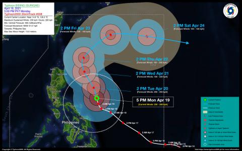 Typhoon BISING (SURIGAE) Advisory No. 08