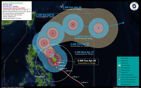 Typhoon BISING (SURIGAE) Advisory No. 09