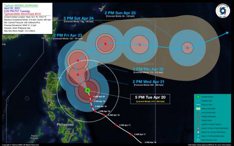 Typhoon BISING (SURIGAE) Advisory No. 10