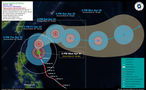 Typhoon BISING (SURIGAE) Advisory No. 12