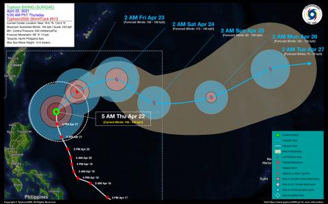 Typhoon BISING (SURIGAE) Advisory No. 13