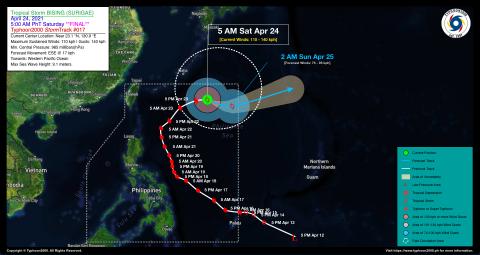 Severe Tropical Storm BISING (SURIGAE) Final Advisory