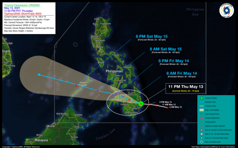 Tropical Depression CRISING Advisory No. 03