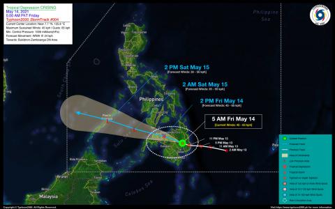 Tropical Depression CRISING Advisory No. 04