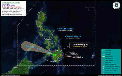 Tropical Depression CRISING Advisory No. 05