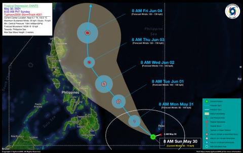 Tropical Depression DANTE Advisory No. 01