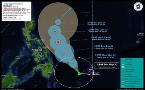 Tropical Depression DANTE Advisory No. 02