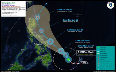 Tropical Storm DANTE Advisory No. 03