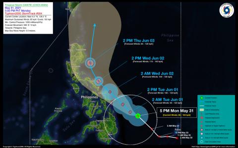 Tropical Storm DANTE (CHOI-WAN) Advisory No. 04