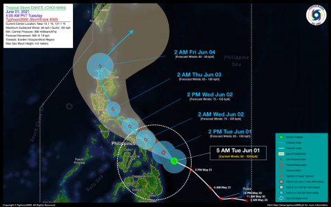 Tropical Storm DANTE (CHOI-WAN) Advisory No. 05