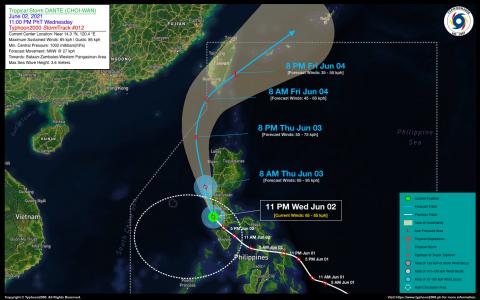 Tropical Storm DANTE (CHOI-WAN) Advisory No. 12