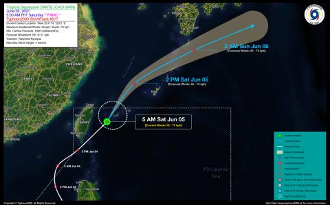 Tropical Depression DANTE (CHOI-WAN) Final Advisory