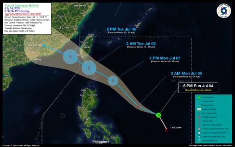 Tropical Depression EMONG Advisory No. 01