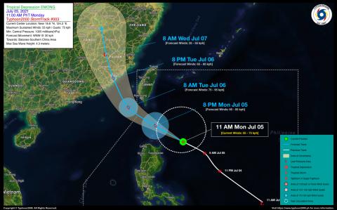 Tropical Depression EMONG Advisory No. 03